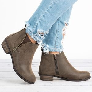 Pierre Dumas Shoes - DISTRESSED BROWN EXPOSED ZIPPER BOOTS - ZOEY14
